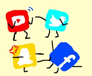 social medias fighting