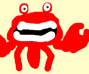 A exciting crab.