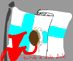 Cleaning the Finnish flag