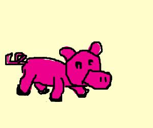 a wierd deformed pig