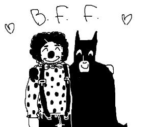 Clown and Batman best friend forewahhhhhh!