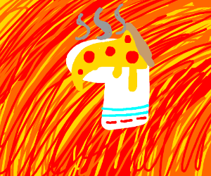 sock with pizza on it