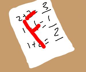 Failing Kindergarten Math