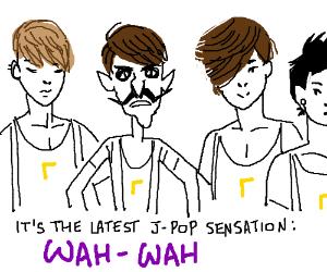 Waluigi joins a jpop band