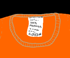 shirt made of 100 percent papaya