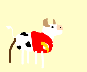 the flash but hes a cow thats pooping