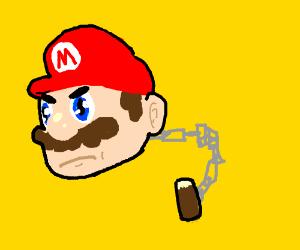 Chain Chomp, but Mario's head instead
