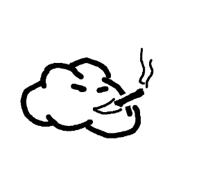 the sky is smoking