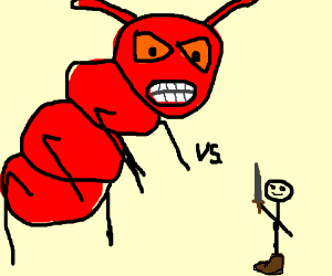 Giant Fire Ant vs 1 Legged Man