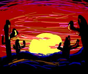 Colorful Desert Sunset