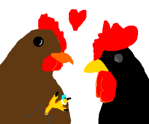 Mr. Rooster and Mrs. Chicken