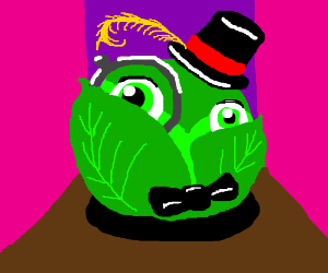 A very dapper head of cabbage