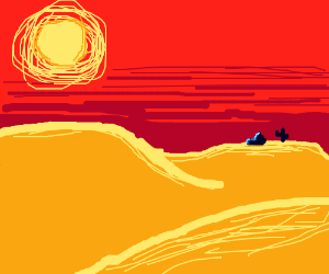 Desert hot sun