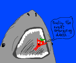 Shark eats suicidal strawberr