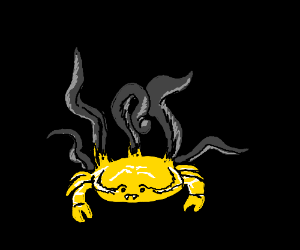 Yello Crab with tentacles