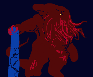 epic drawing of cthulhu