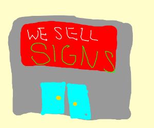 a sign shop