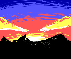 A Beautiful Sun Rise on the mountains