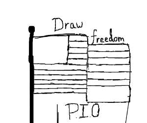 Draw Freedom Pio Drawing By Sam Panda