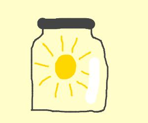 The sun in a glass jar