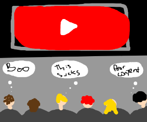 Audience is not pleased by youtube content
