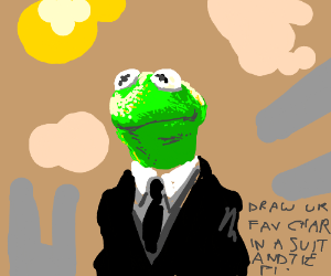 Draw your fav character in a suit and tie. PIO