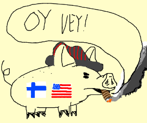 Mafia-style pig from US and Finland says oy vey