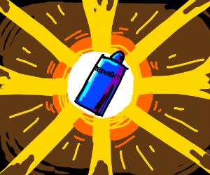 Human deodorant is dramatic.