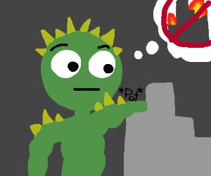 Giant monster does't feel like destroying city