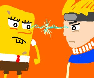 Spongebob Vs Naruto Drawception