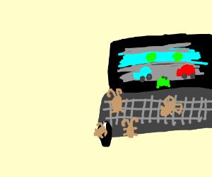 Beetles playing computer games
