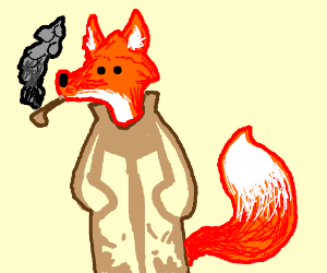 Orange Wolf Wearing A Trench Coat Drawing By Ceralius Drawception
