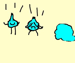 a waterdrop being insecrure