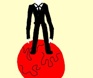 slenderman on a bloody planet