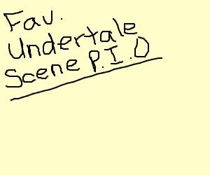 your fav Undertale scene pio