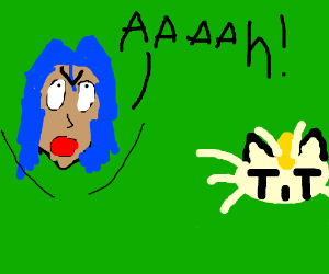 Team Rocket James yelling at Meowth (PKMN)