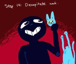 Step 13: Pet the cat
