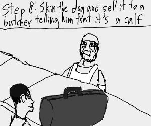 step 7: let the glasses burn the dogs retna