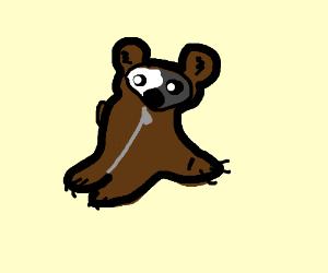 A penda in a bear suit