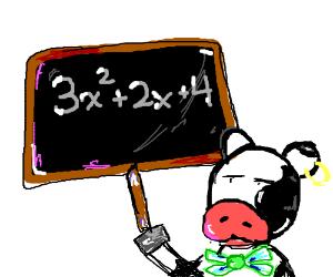 Cow teaches algebra