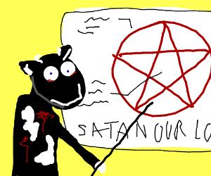 satanic cow teacher