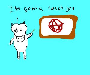 Cow Teaching Satanism