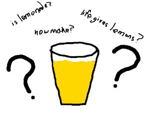 cup of ?lemonade?