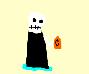 Grim Reaper drinks Gatorade
