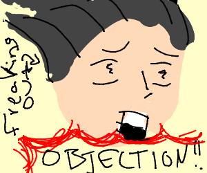 Phoenix Wright Freaks Out While Objecting