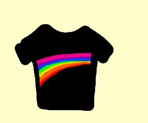 black ranbow tshirt