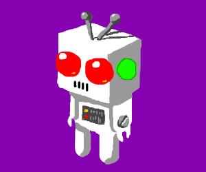 White blocky humanoid robot