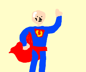 Lex Luthor cosplaying Superman