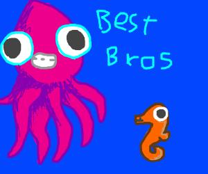 Happy sea friends