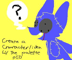 Create a character/idea w/ the palette (P.I.O)